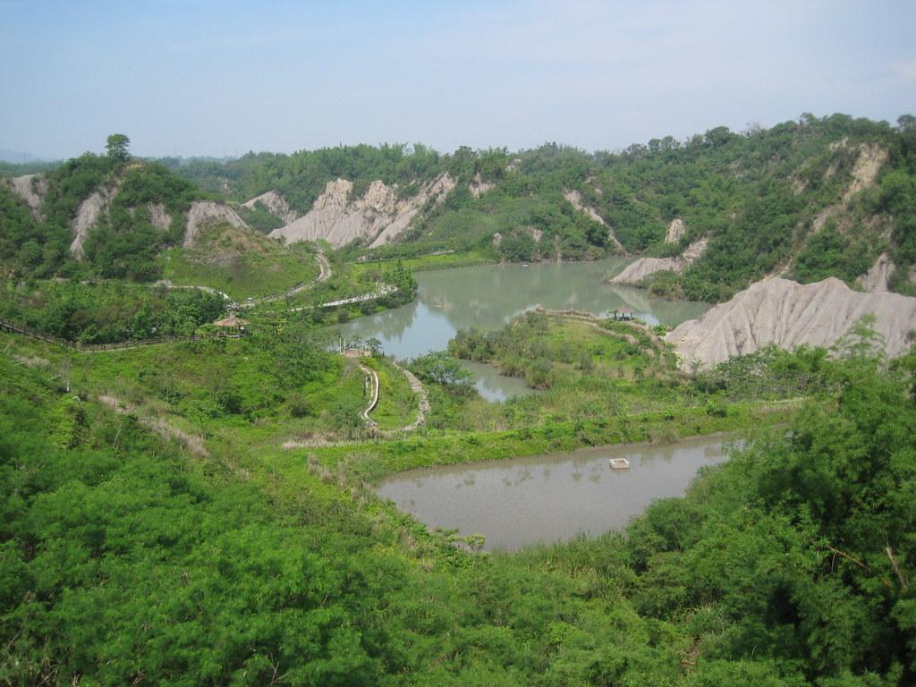 牛埔泥岩水土保持教學園區。攝影:Pbdragonwang;圖片來源:維基百科CC BY-SA 3.0