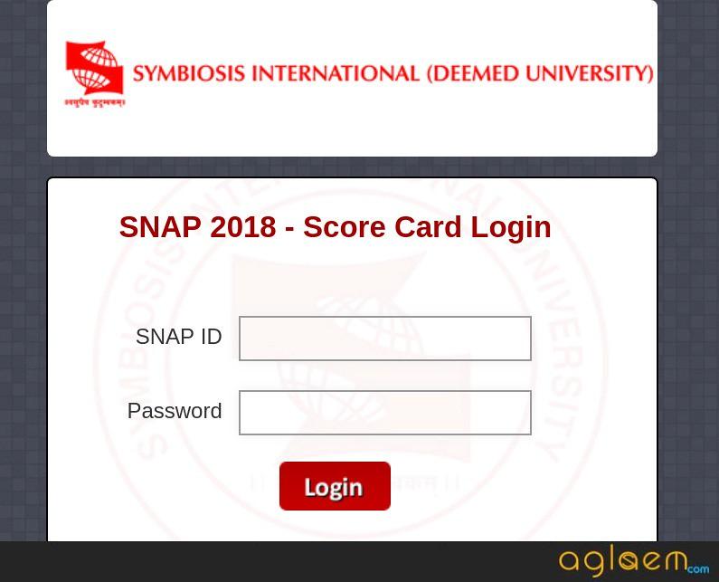 SNAP 2018 Result Login