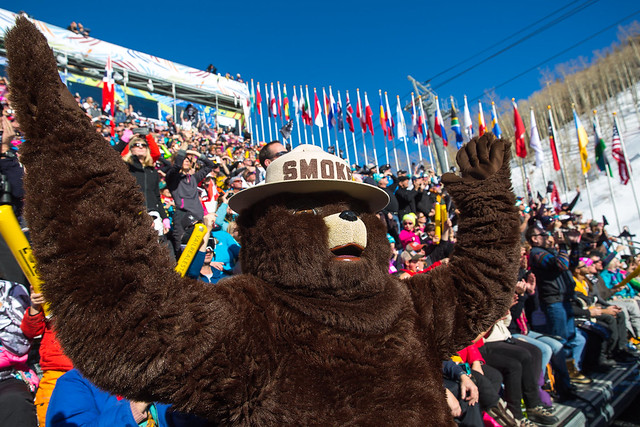 Smokey Bear at the 2015 World Alpine Ski Championships