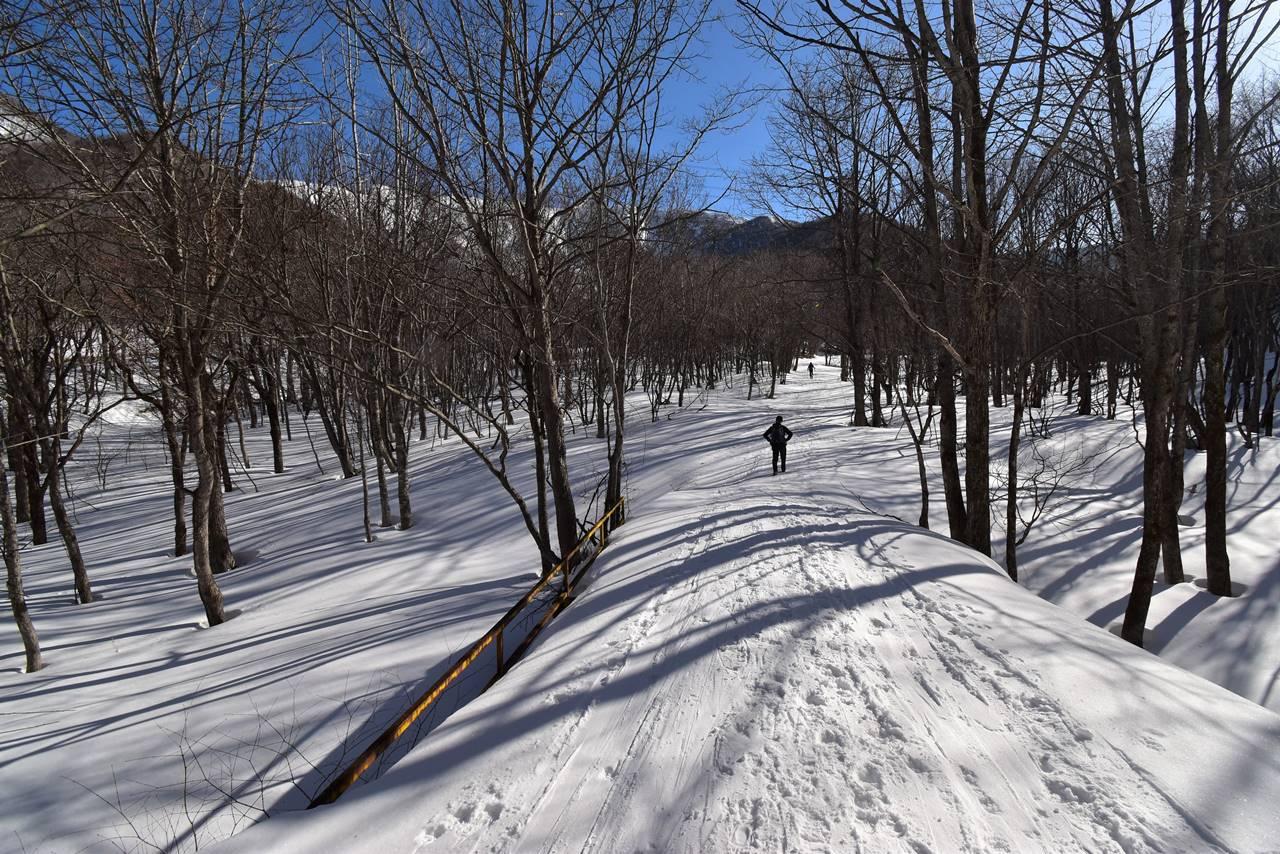冬の平標山 ヤカイ沢ルート