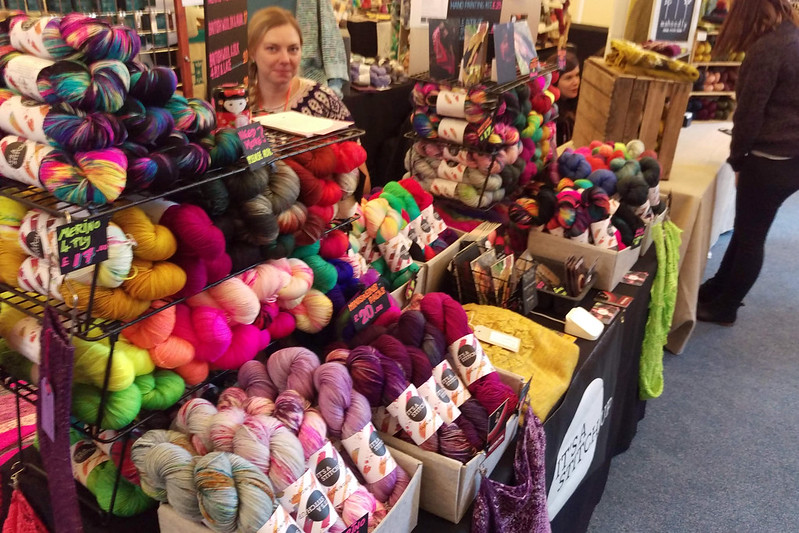 It's a Stitch Up stand at Yarnporium 2018