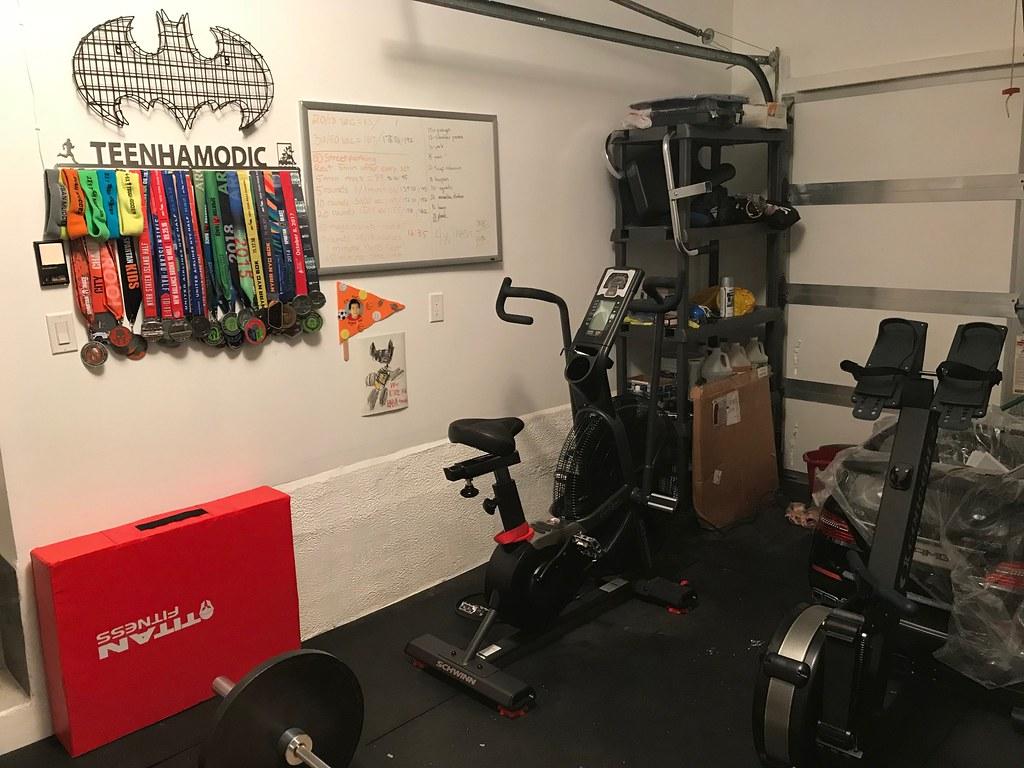 My single car garage gym in nyc : homegym