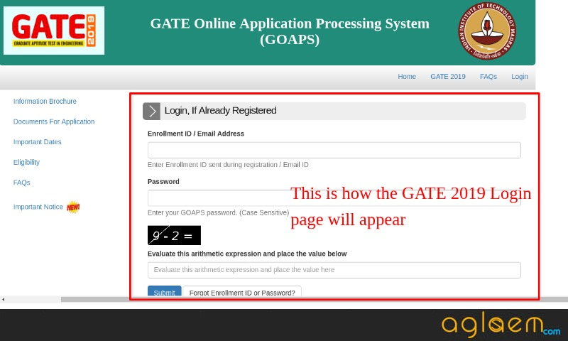 GATE 2019 Login (Available) - Download Here Scorecard and