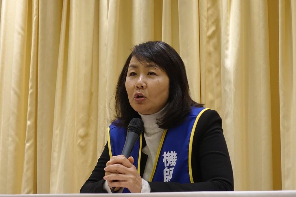 機師工會和資方協商再度破局,機師工會常務理事陳蓓蓓表示遺憾。(攝影:張智琦)