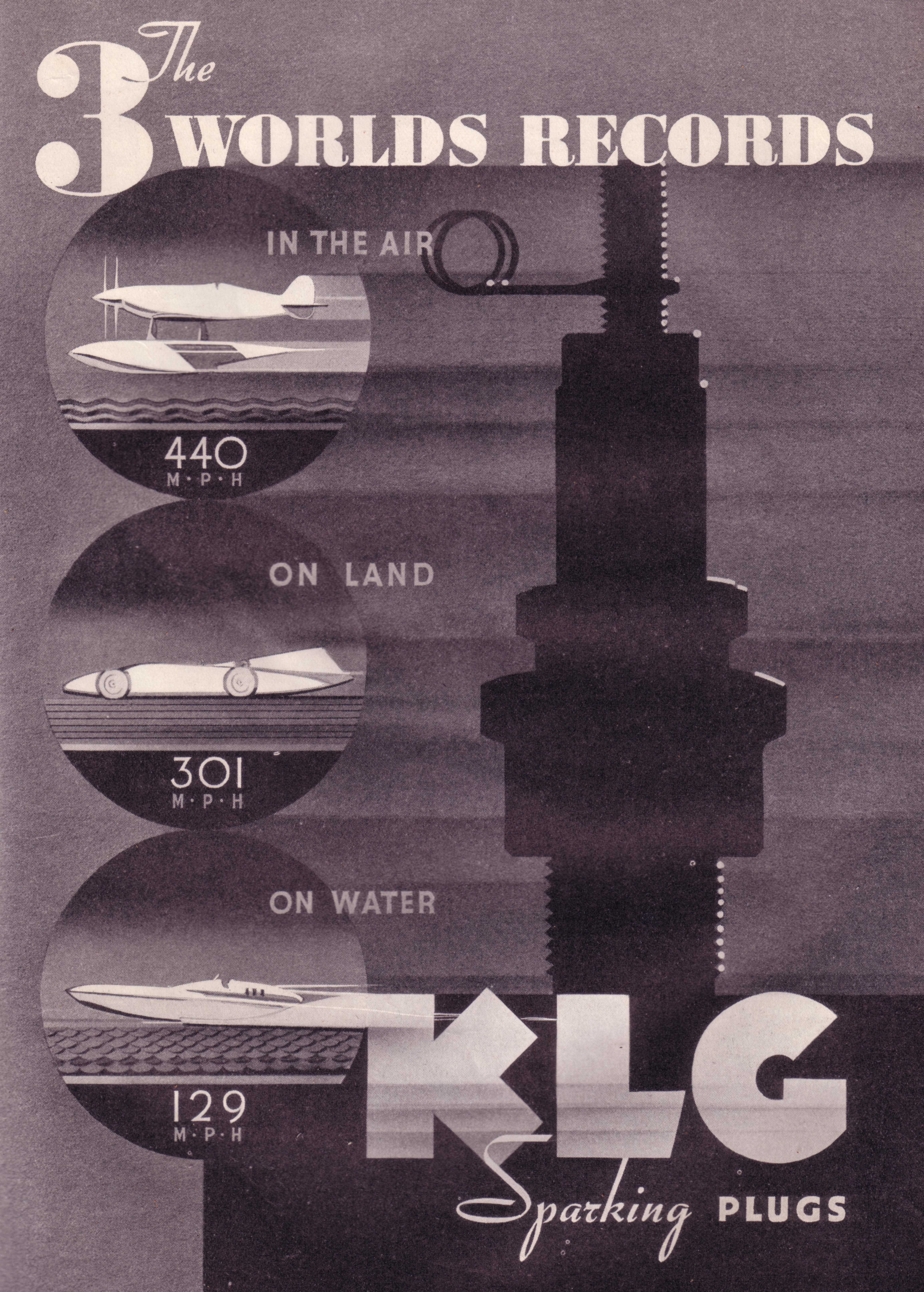KLG Sparking Plugs - published in The Aeroplane - October 6, 1937
