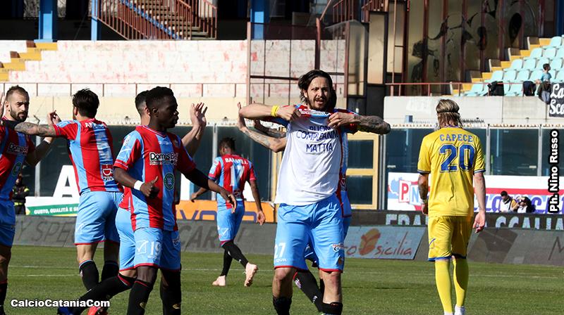 Marco Biagianti, gol con dedica al figlio Mattia, che proprio oggi compie gli anni.