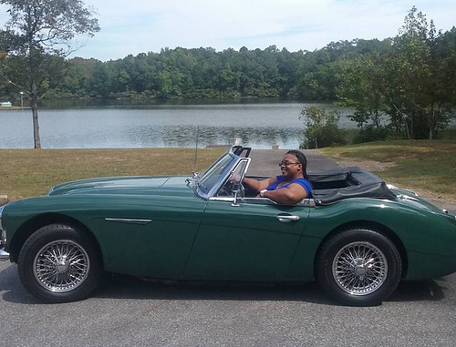 Renee Floyd drives a 1967 Austin Healey