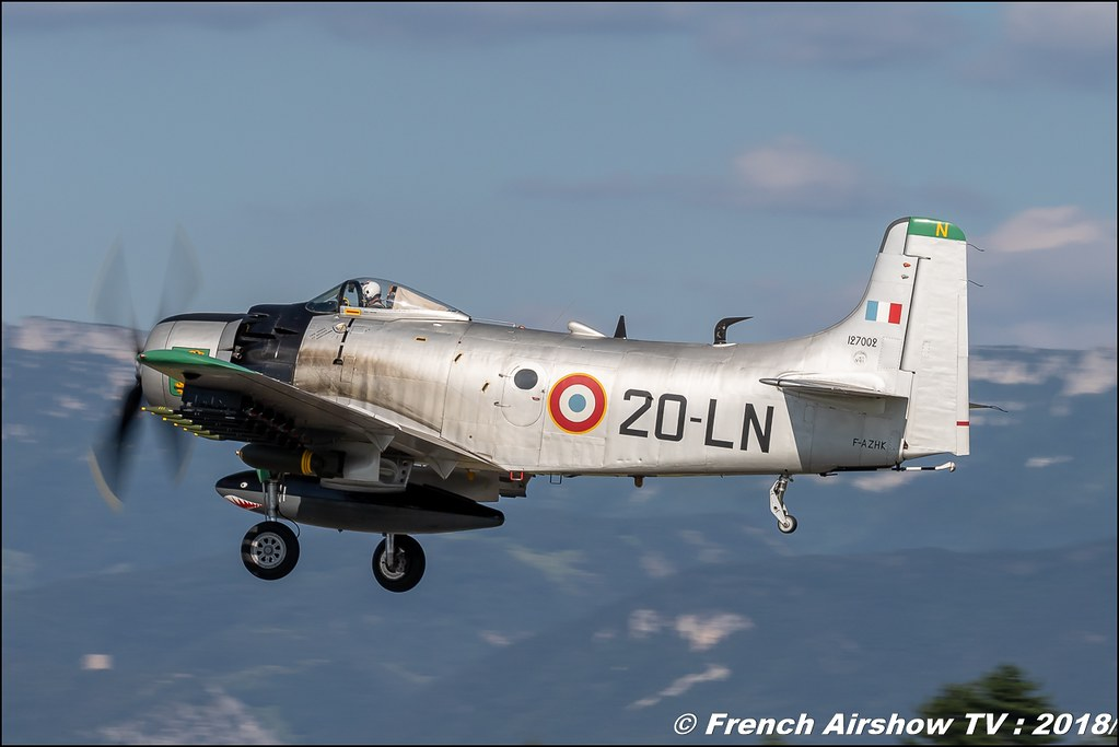 AD-4N Skyraider F-AZHK Aerotorshow 2018 – Fête aérienne de Valence Chabeuil Canon Sigma France contemporary lens Meeting Aerien 2018