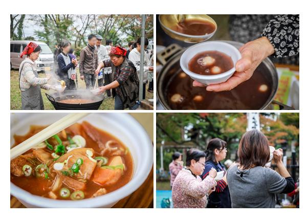 豚汁とぜんざいのふるまい 秋葉神社のお祭り 愛知県瀬戸市