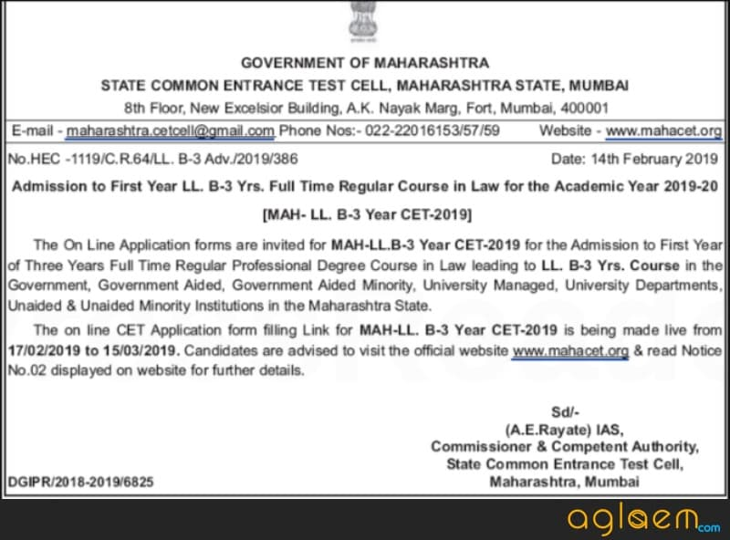 MH CET Law 2019 Application form Released for 3 Year LLB Programme; Know What is Maharashtra State Candidature