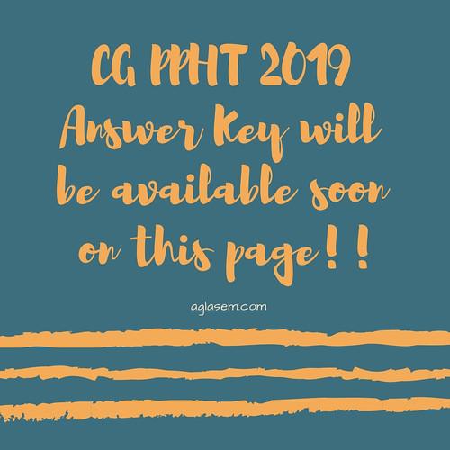 CG PPHT 2019 Answer Key