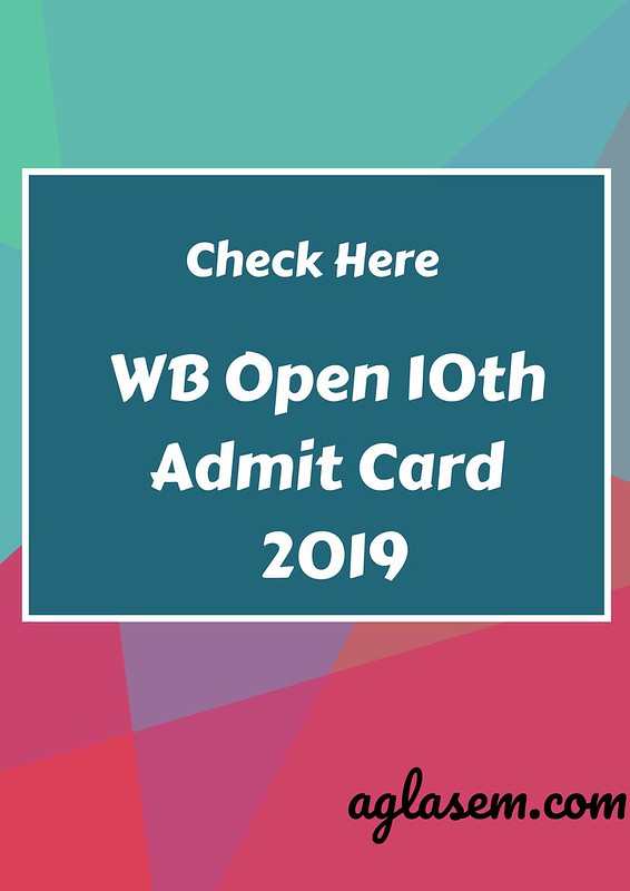 Rabindra Open Schooling Madhyamik Admit Card June 2019 | WB Open 10th Admit Card 2019