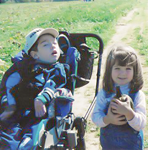 Jake and Cassie Bebout as children