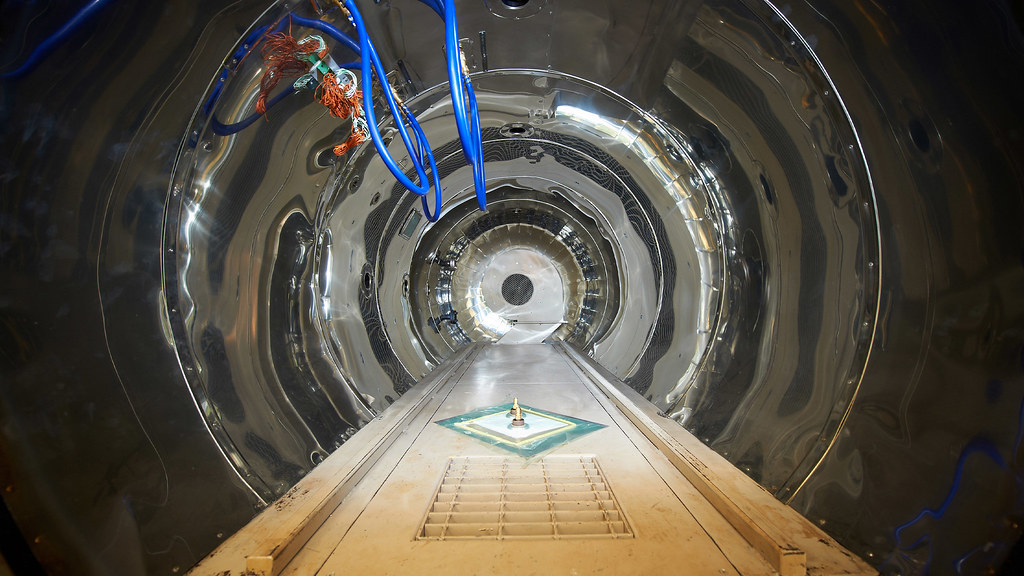 Inside an industrial autoclave