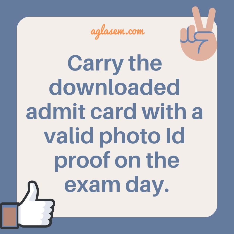 Amrita University 2019 Admit Card