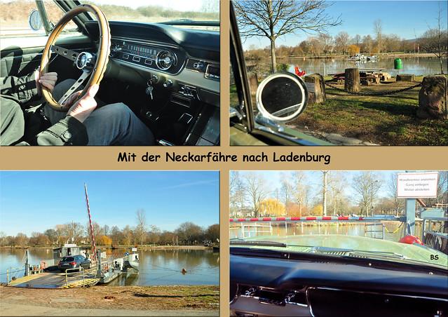 13. Februar 2019: Mit dem Oldtimer Ford Mustang 1965 über die Neckarfähre von Neckarhausen nach Ladenburg ... Fotos: Brigitte StolleFoto (s): Brigitte Stolle