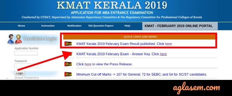 KMAT Kerala 2019 Result Available at kmatkerala.in; Topper Scored 493/716 Marks