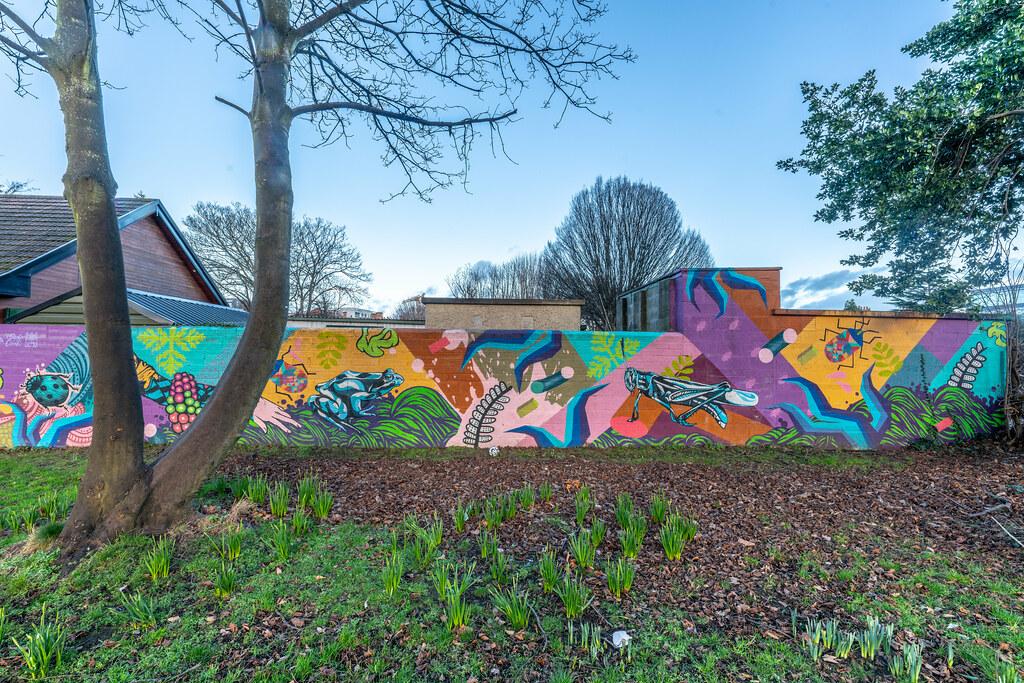 EXAMPLE OF STREET ART NEAR THE TEAROOMS IN HERBERT PARK 001
