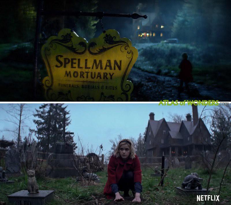 Casa de Las escalofriantes aventuras de Sabrina