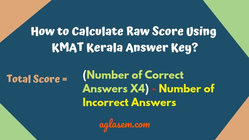 How To Calculate Marks Using The KMAT Kerala 2019 Answer Key