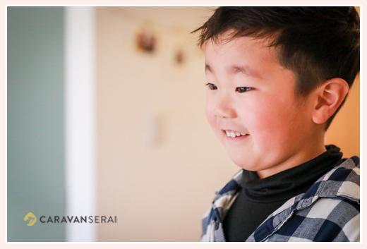 5歳の男の子 横顔