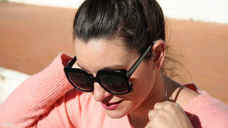 gafas de mujer XL negras