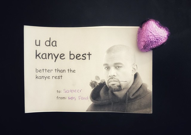 Photo of a Valentine's Day card I got from my students