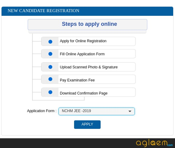 NCHMCT JEE Application Form 2019