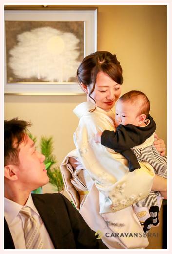お食い初め 愛知県名古屋市 4か月半の男の子の赤ちゃん