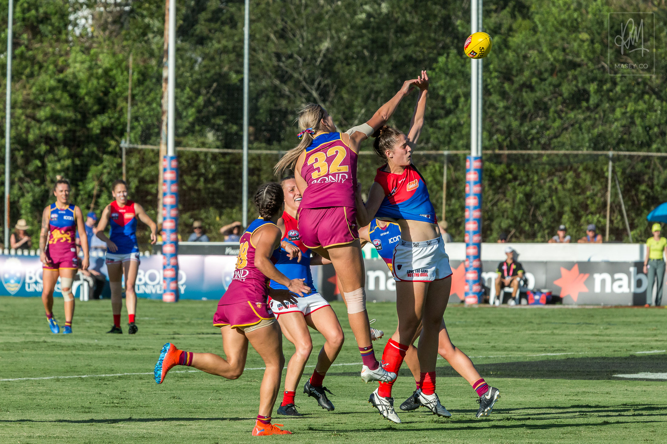 Lauren Bella rises to get first hands to the ball yet again