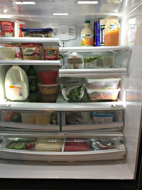 fridge filled with healthy foods