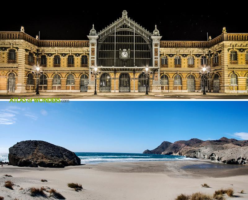 Almeria railway and beach
