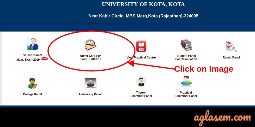 Kota-University-Admit-Card-Aglasem
