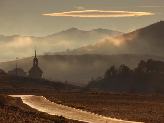 Niebla en el entorno de la Laguna de Gallocanta (Tierras del Jiloca y Gallocanta)