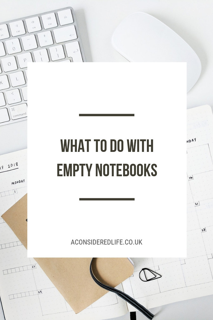 Ideas For What To Do With Empty Notebooks