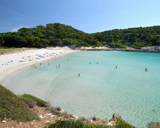 Cala de Trebaluger en Menorca