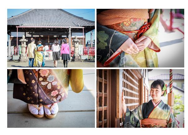 成人式のお詣り 寺院 草履 ネイル