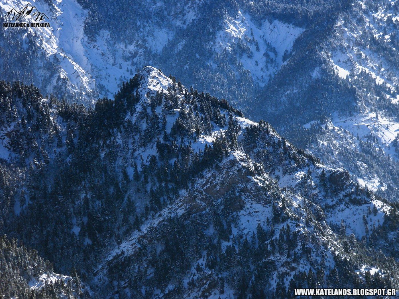 τσουκα παναιτωλικου βουνοκορφη χιονια χειμωνας