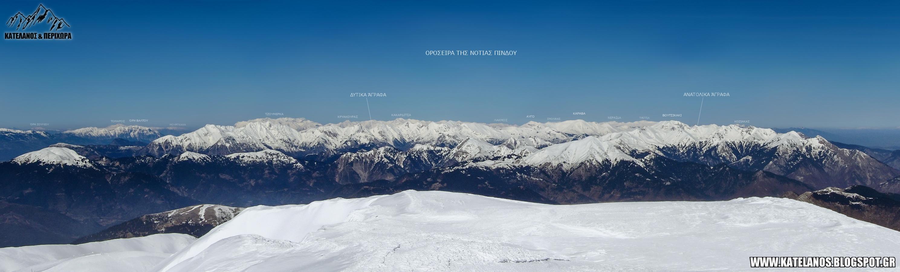 οροσειρα νοτιας πινδου πανόραμα