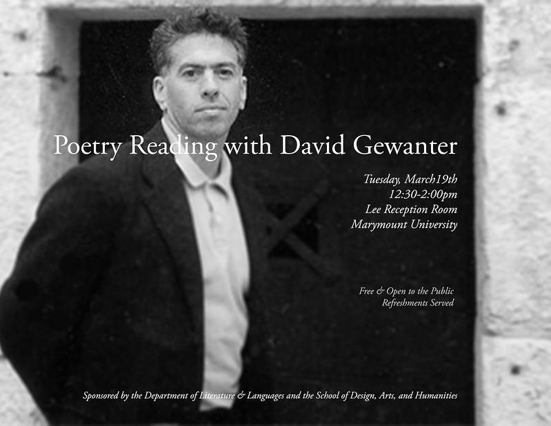 Poetry reading with David Gewanter
