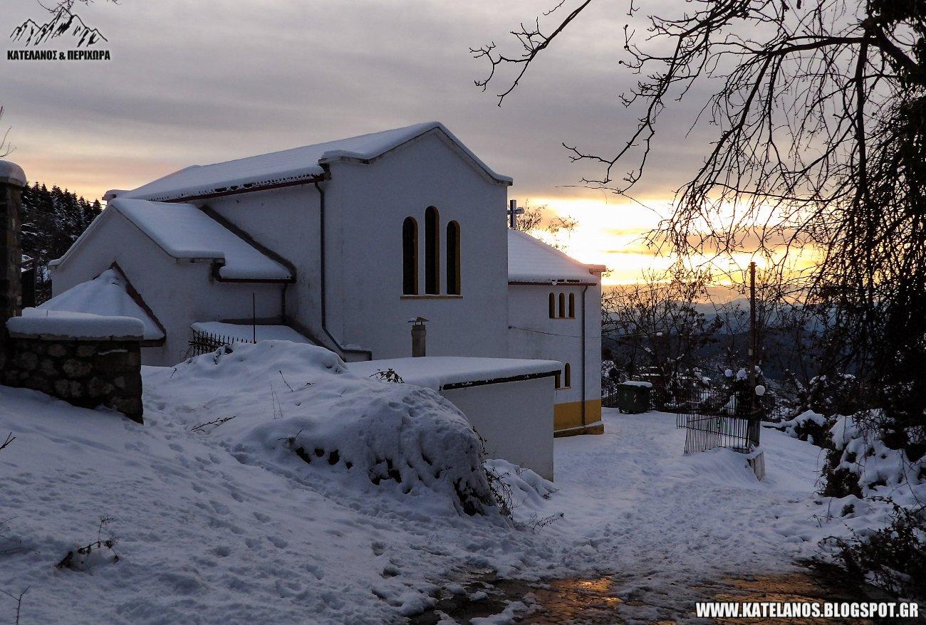 ιερος ναος αγιου βλασιου αγρινιου χιονια