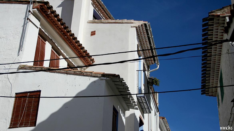 Aín pueblo de montaña en la Sierra de Espadán Castellón