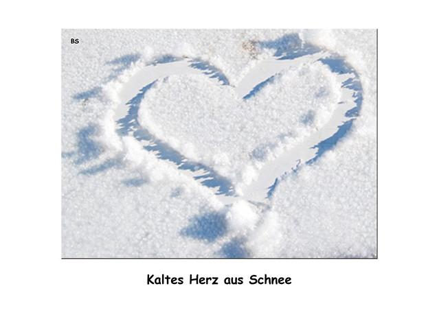 Herz aus Eis und Schnee ... kaltes Herz ... Foto: Brigitte Stolle