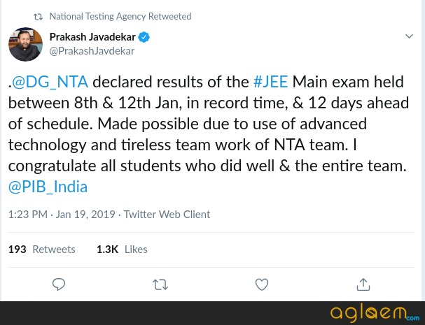 NTA JEE Main 2019 Paper 2 Candidates Look Forward For Result Today; Likely To Release By Midnight