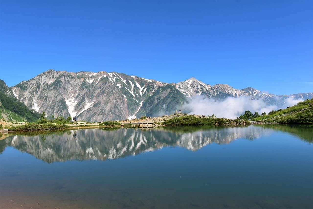 唐松岳 八方池からの白馬岳