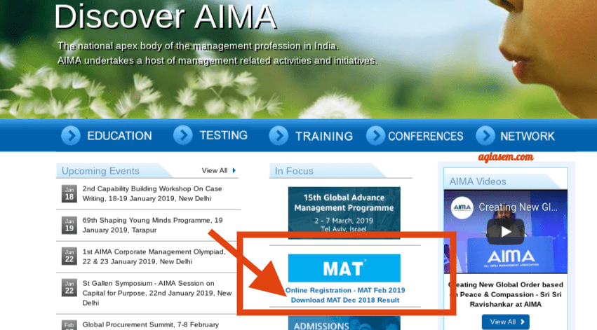 MAT 2018 Result Available for December Exam; Download at aima.in