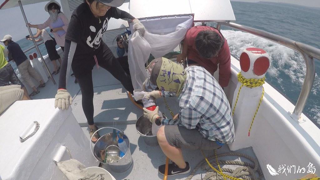 航程規劃三項指標,包含海洋廢棄物及塑膠微粒、水下聲音及噪音、海水溶氧量的觀察記錄。