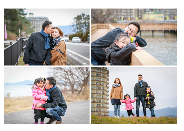 Family photo shooting at Lake Biwa, Shiga, Japan 琵琶湖(滋賀県)で家族写真