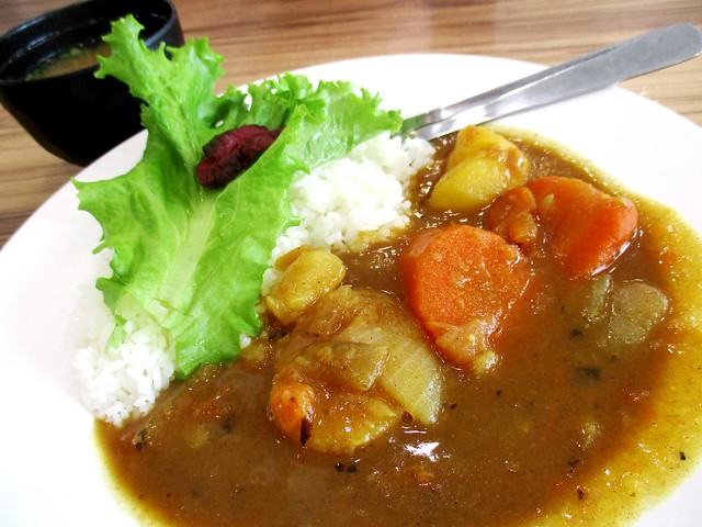 Plain curry rice