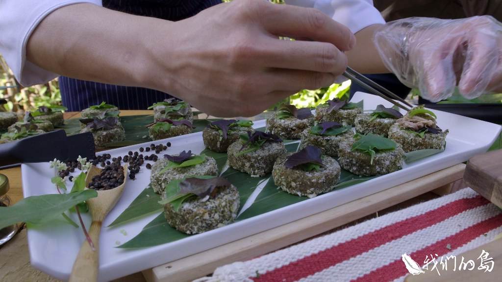 林試所第一次與部落廚師合作,在植物園內舉辦原生香料餐酒會。